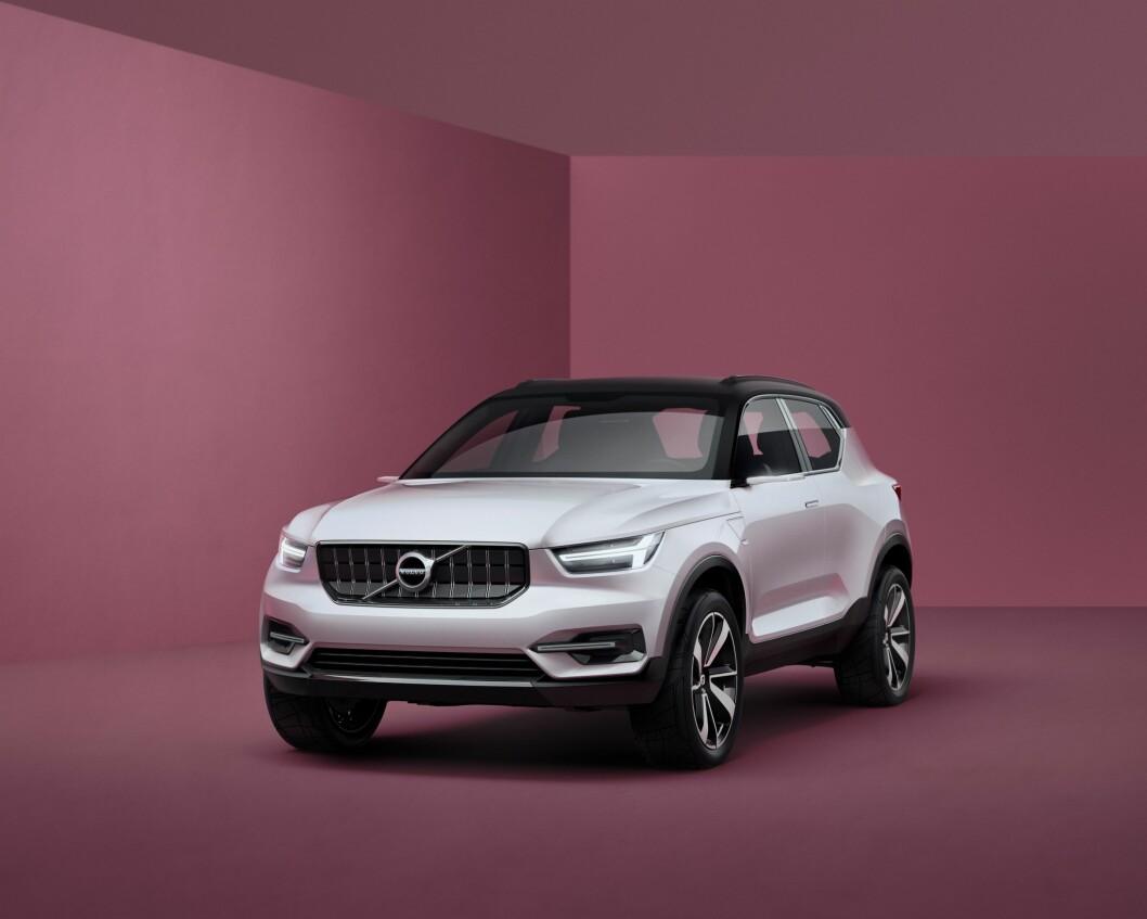 LITEN SUV: Volvos nye småbil-serie består blant annet av en liten SUV. Den første bilen kommer i 2017. Foto: Volvo