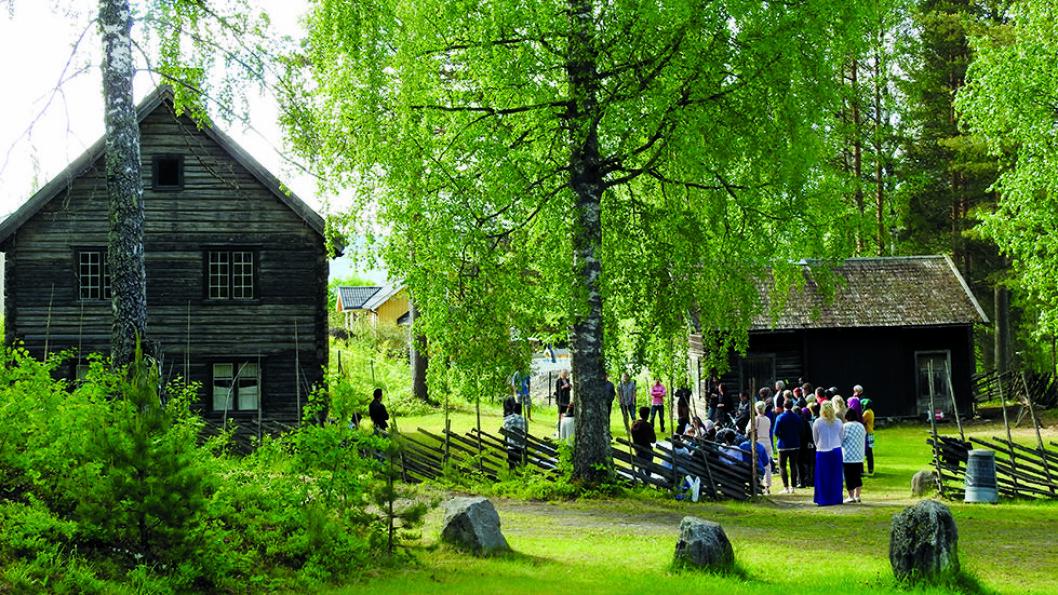 DEL AV RANDSFJORDMUSEENE: Lands Museum i Dokka ble etablert 1927 for å dokumentere og bevare historien til Nordre og Søndre Land kommuner. Foto: Per Roger Lauritzen