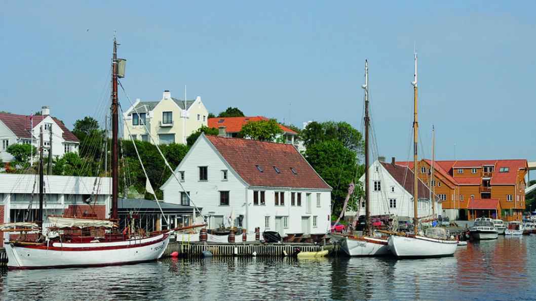 SILDABYEN: Det rike vårsildfisket og den gode havna var viktig for bydannelsen av Haugesund. Foto: Per Roger Lauritzen