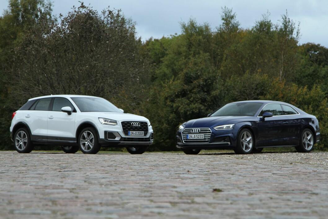 NYTT PÅ NYTT: Q2 og A5 er høstens store nyheter fra Audi. Foto: Rune Korsvoll