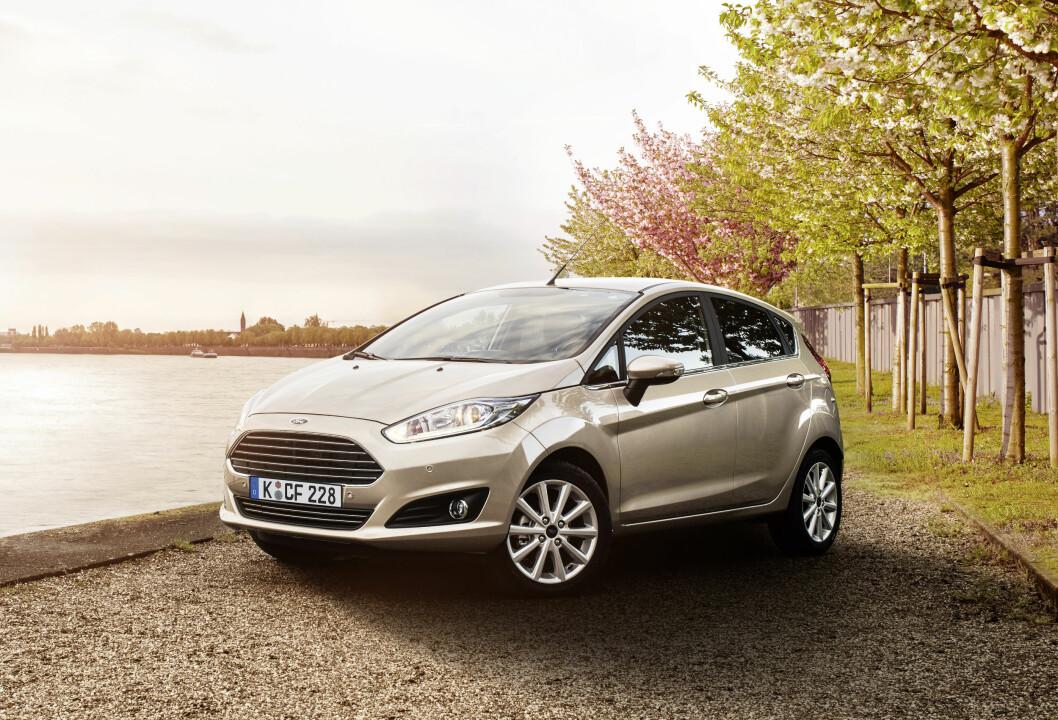 STØRRE: Nye Ford Fiesta blir større og har ny teknologi som vi ikke har sett i små biler tidligere. Foto: Ford