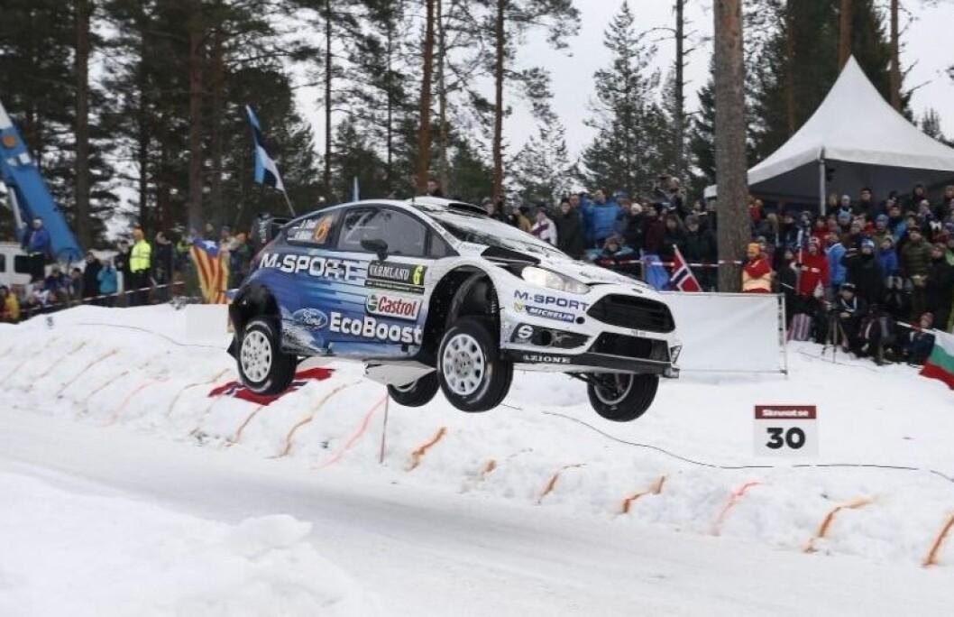 STARTER I SVERIGE: Mads Østberg starter VM-sesongen i Sverige i februar i en ny Ford Fieste WRC. Her har han vært på pallen i fem av de siste seks årene. Foto: Rune Korsvoll