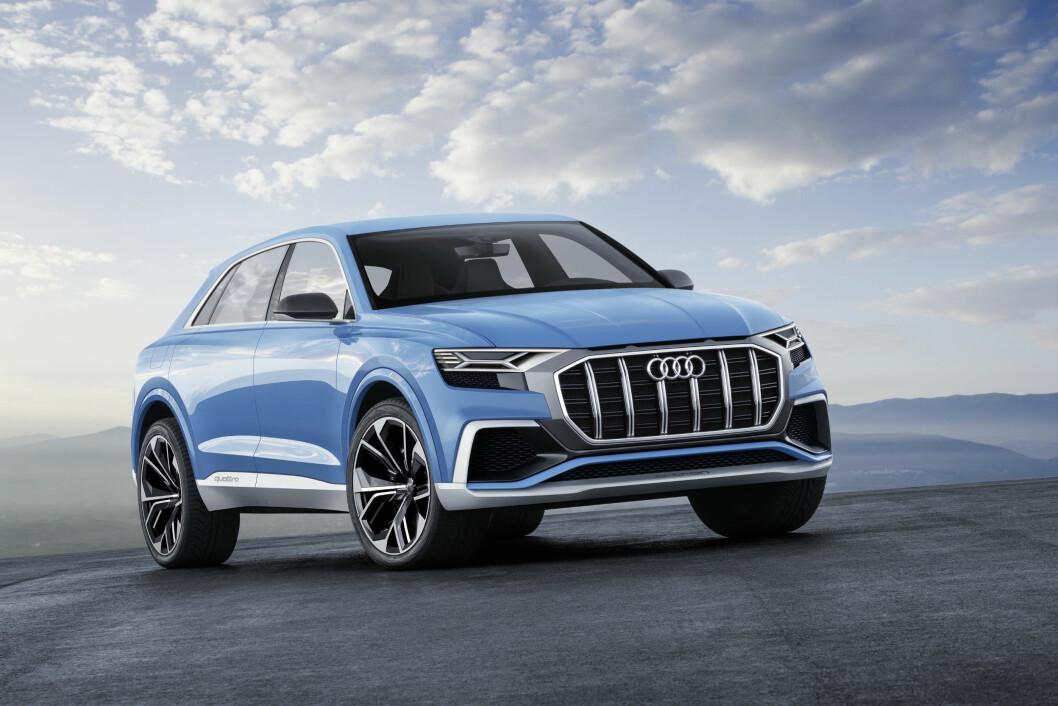 STOR: Audi Q8 blir større enn dagens Q7 og er nok først og fremst tiltenkt amerikanske kunde. Foto: Audi
