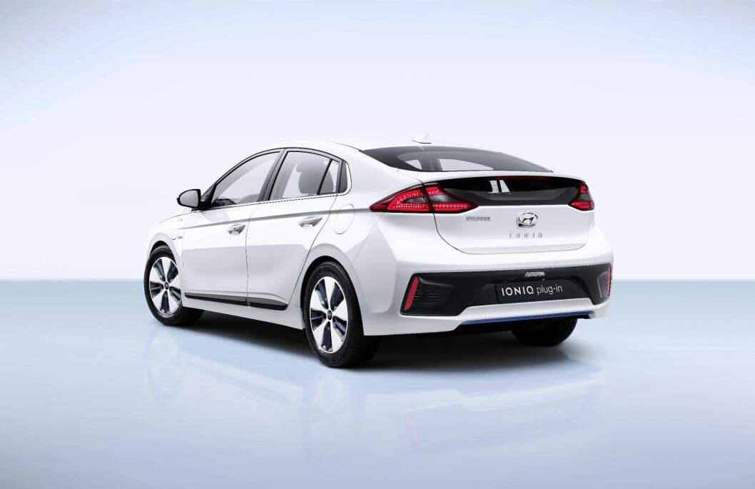 IONIQ: Hyundai har tidligere levert denne som hybrid og som helelektrisk, nå kommer Ioniq også som ladehybrid.