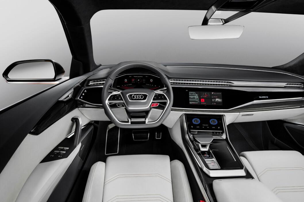 DEN NYE VINEN: Audi har spart på knappene i sin nye Q8. «Enkelhet er den nye luksusen», i følge Audi-reklamen.