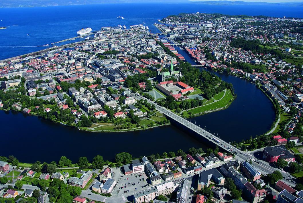 NASJONALSANG: Det var fra Sverresborg at Kong Sverre talte Roma midt imot! Foto: Wikipedia
