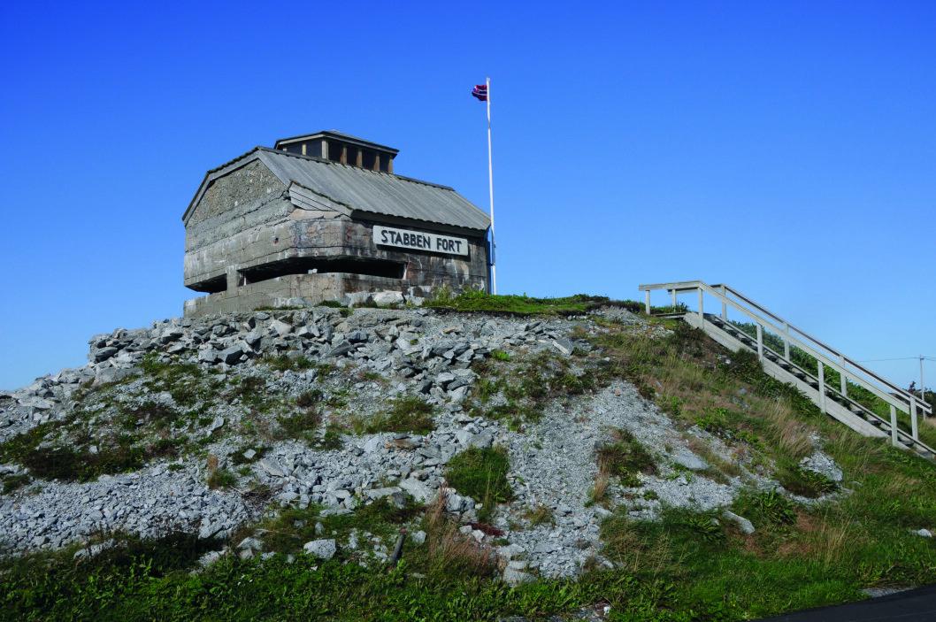 BYGGET I 1941: Kommandotårnet på Stabben fort er nå et interessant museum.