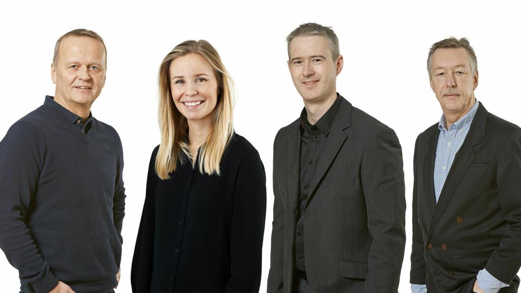 MOTORS TESTLAG: Dette er de fire ekspertene som tester bil for Motor, Rune Korsvoll (f.v.), Marlene Engan Aasen, Tom André Nilsen og Audun Bergerud. Foto: Bård Gudim