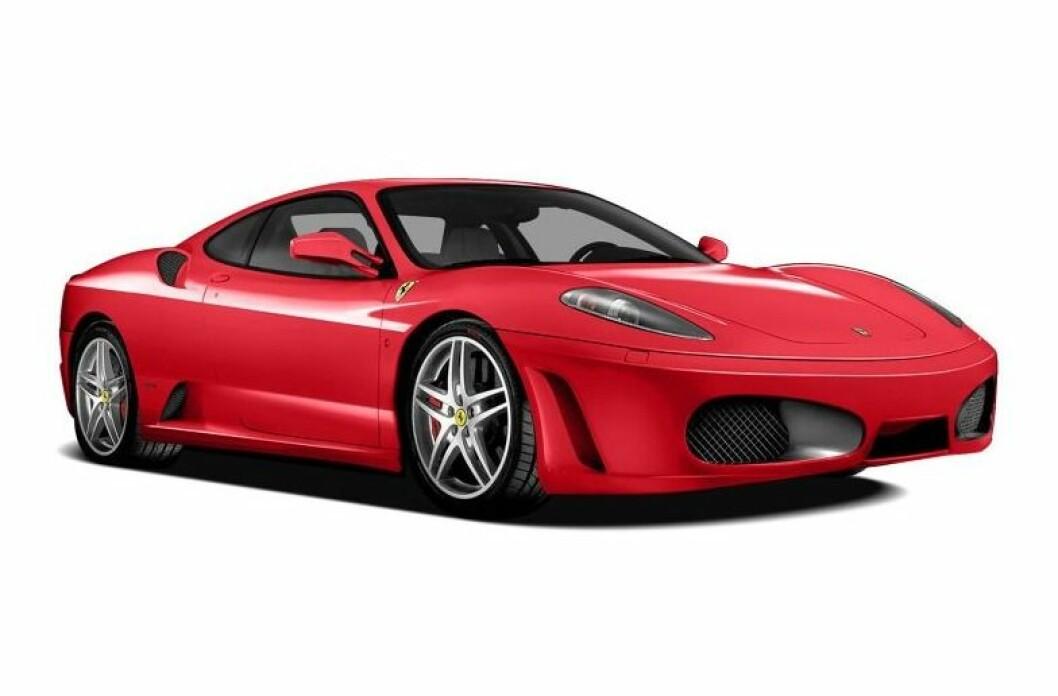 SKUFFET: Donald Trumps Ferrari F-430 F1, lik denne, oppnådde ikke minstepris på en auksonen i Florida i helgen, men ble solgt i etterkant til en hemmelig kjøper. Foto: Ferrari