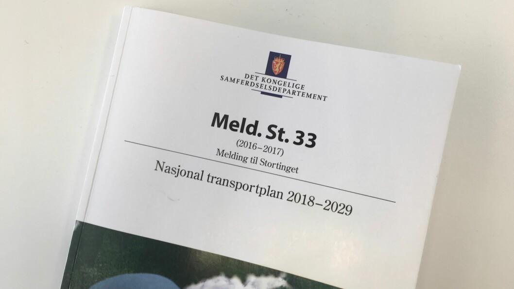 MELDING TIL STORTINGET: Nasjonal Transportplan 2018-29