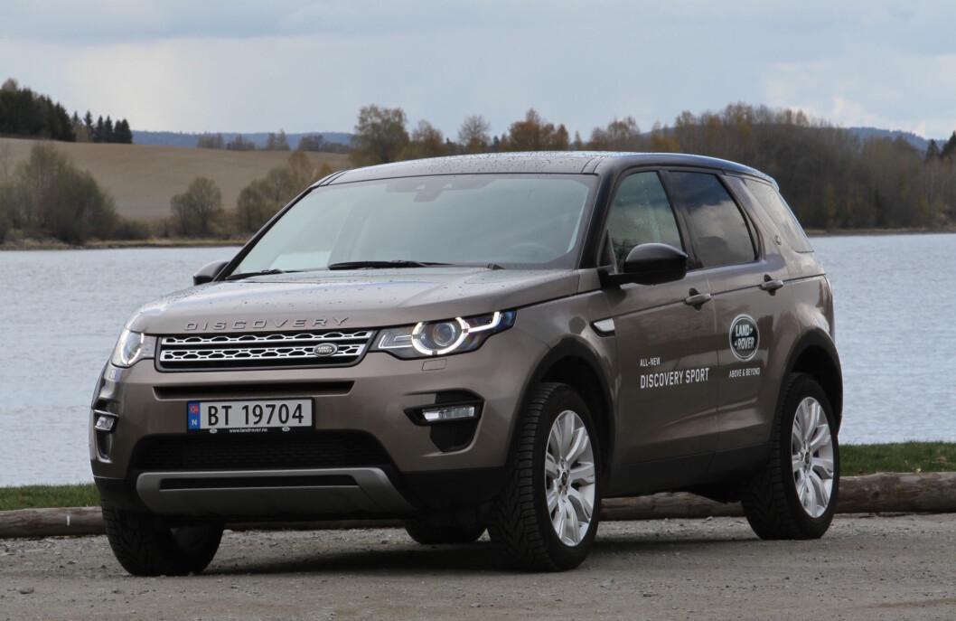 BRITISK ELLER INDISK: Med indiske eiere har Land Rover fått et løft både når det gjelder design og kvalitet. Discovery Sport bygges imidlertid fortsatt i England. Foto: Rune Korsvoll