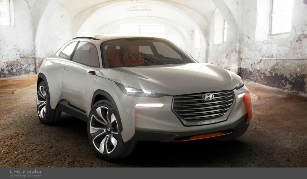 KONA: Hyundai Kona vises på Frankfurt-utstillingen i september. Den bygger på konseptbilen Intrado, som Hyundai bygget i 2015. Foto: Produsenten