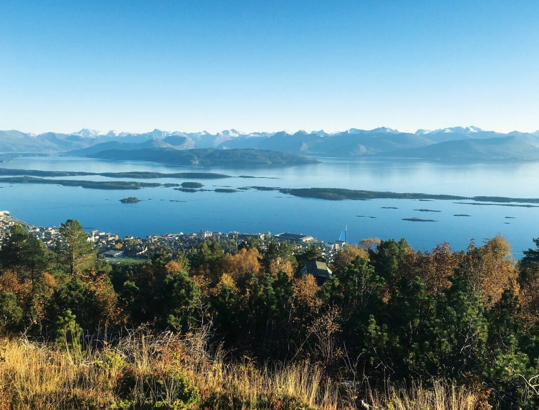 VAKKERT: Utsnitt av Moldepanoramaet. Foto: Molde kommune