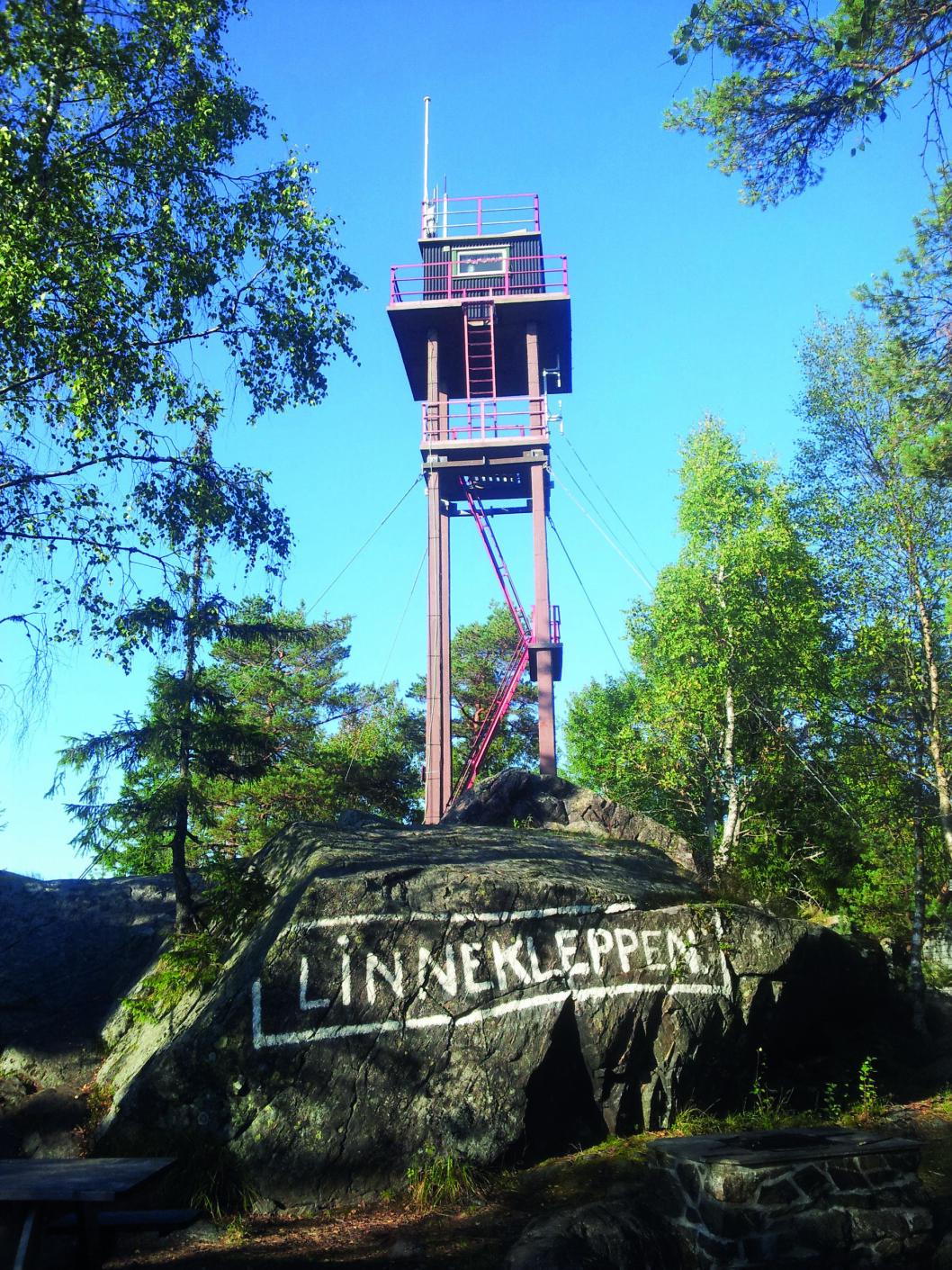 TOBIAS ER HJEMME: Det siste tårnet på Linnekleppen ble satt opp i 1935. Foto: Wikimedia