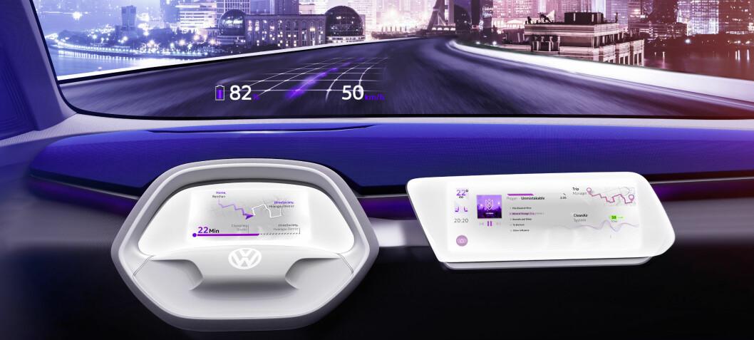 Et trykk på VW-logoen gjør bilen selvkjørende