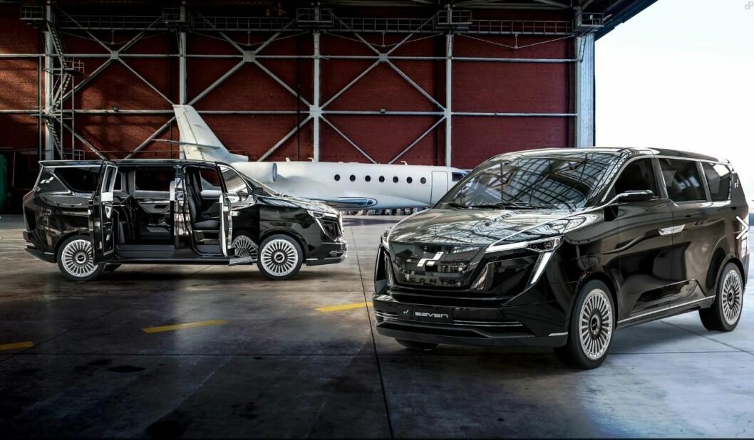 NYE SAAB: Kinesiske Nevs, som kjøpte konkursboet til Saab, har innledet et samarbeid med  Iconiq Motors om å bygge en SUV-avlegger av denne bilen på fabrikken i Trollhättan.. Foto: Iconiq Motors