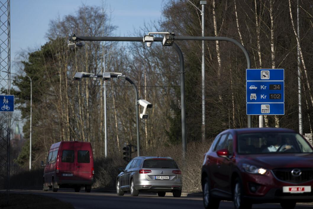 ENDELIGE SATSER: Det vil koste 87 kroner tur-retur Oslo-Akershus med dieselbil i rushtida når de nye bompengesatsene trer i kraft. Foto: Espen Røst