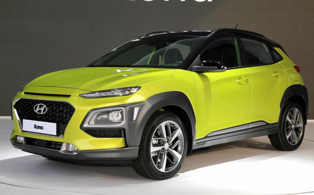 TREFFER BLINK: Med den kompakte SUV-en Kona treffer Hyundai blink i det norske bilmarkedet. Foto: Hyundai