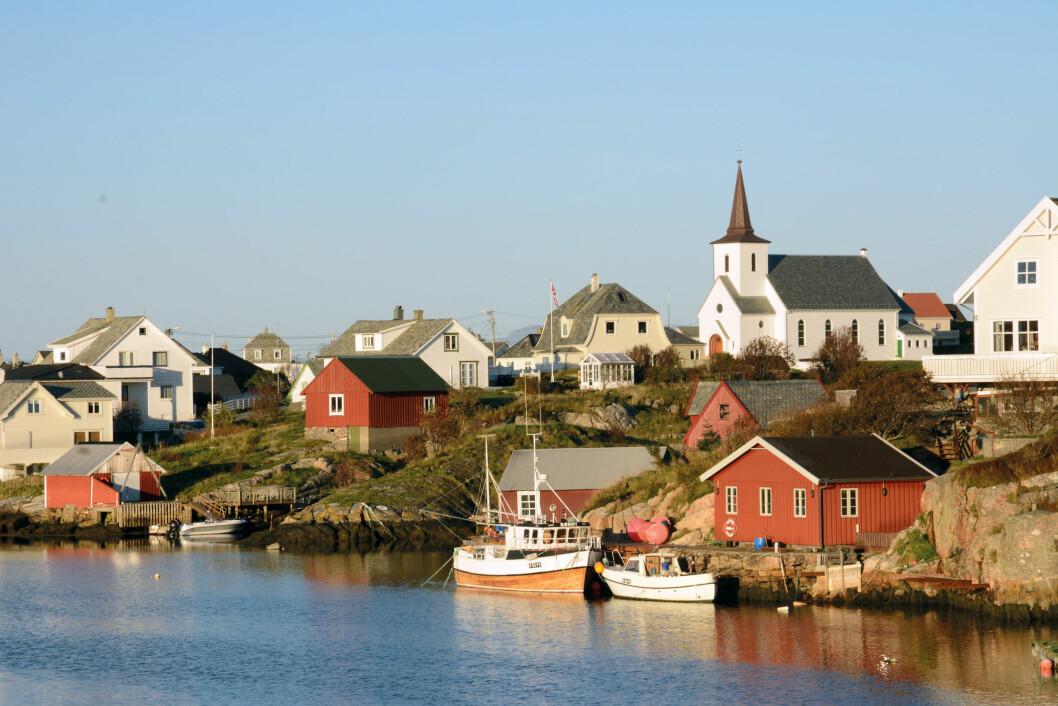 NEST LENGST VEST: Sentrum i Fedje kommune ligger ved den fine havna nord på øya.