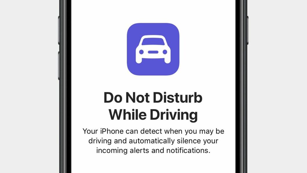 IKKE FORSTYRR: Apple kommer snart med en løsning der innringere blokkeres på din iPhone når du kjører.