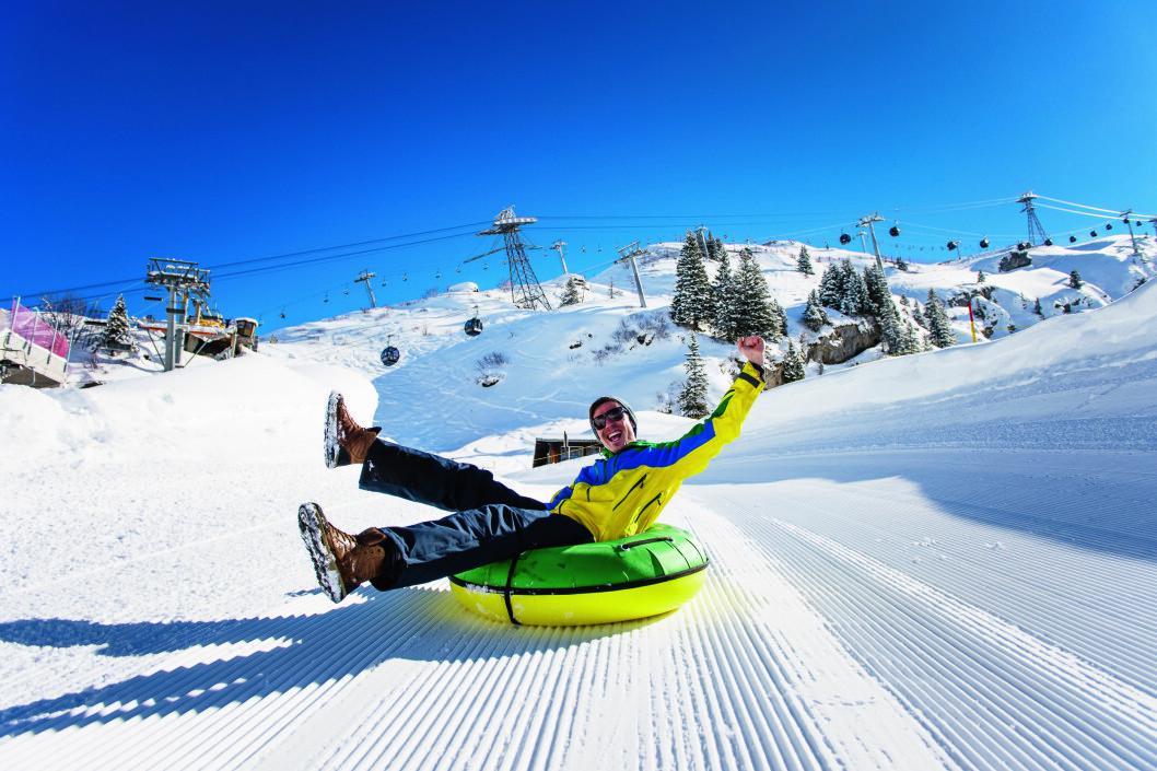 GARANTI: Det er 82 km alpinløyper i Engelberg-området, med snøgaranti på halve løypenettet.