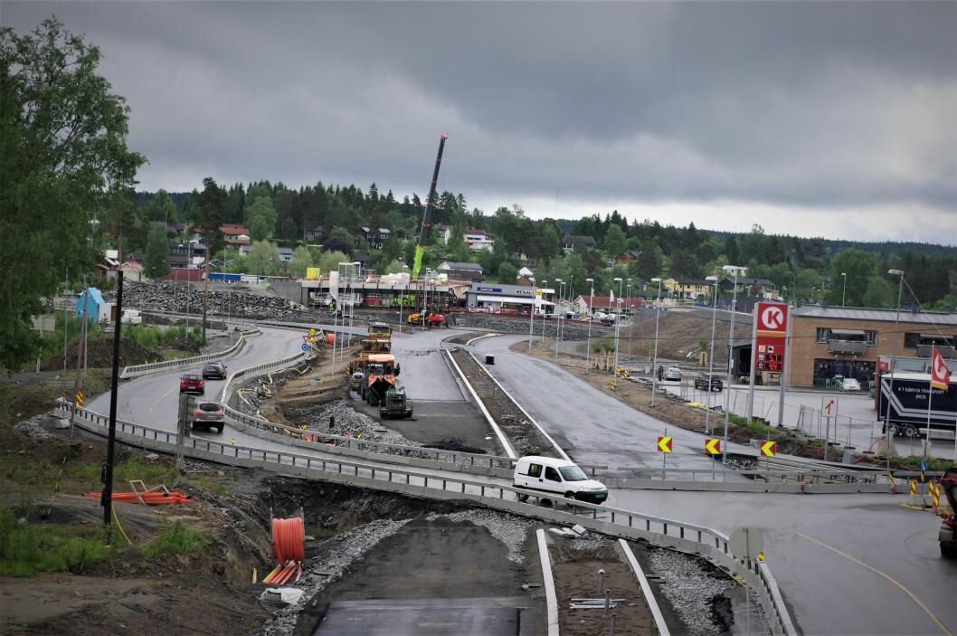 LANDEMERKE: Norgesporten bygges nå i sommer. Foto: Geir Røed