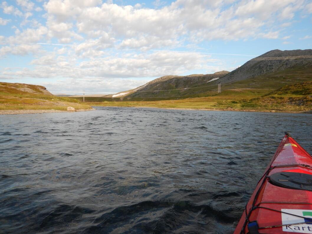 ELVELØP: Stri strøm ved utløpet av Snefjordelva