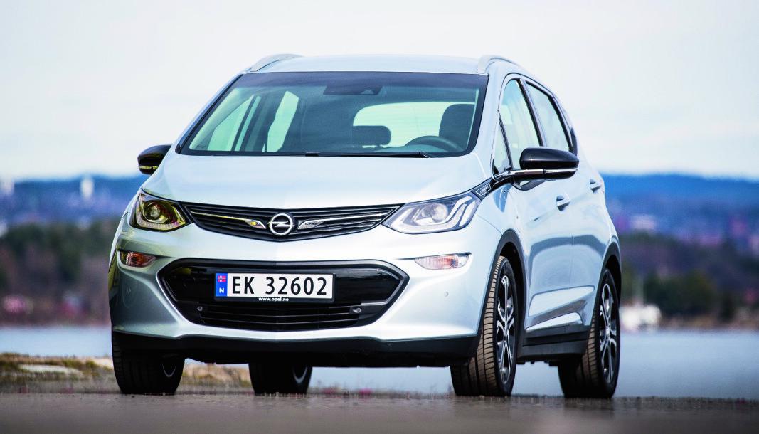 TILBAKEKALLES: Flere tusen Opel Ampera-e og Chevrolet Bolt har batteripakker fra LG Chem som kan være brannfarlige. (Bilen på bildet har ikke nødvendigvis noe med saken å gjøre).