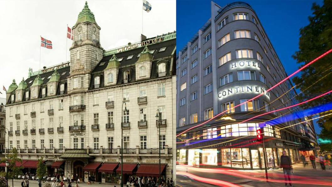 SUVERENT I OSLO: Det er ingen tvil om hvem tilbyr gjestene den beste luksusopplevelsen av Grand Hotel (t.v.) og Hotel Continental.