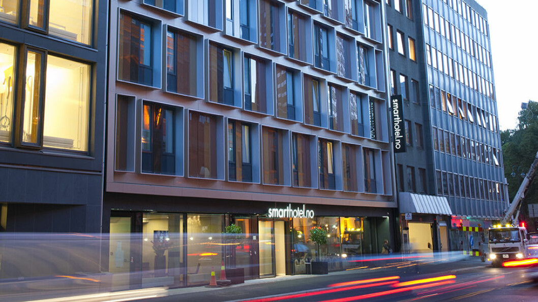 SMARTE GREIER: Billighotellet Smarthotel ligger i St. Olavs gate, midt i hovedstaden.