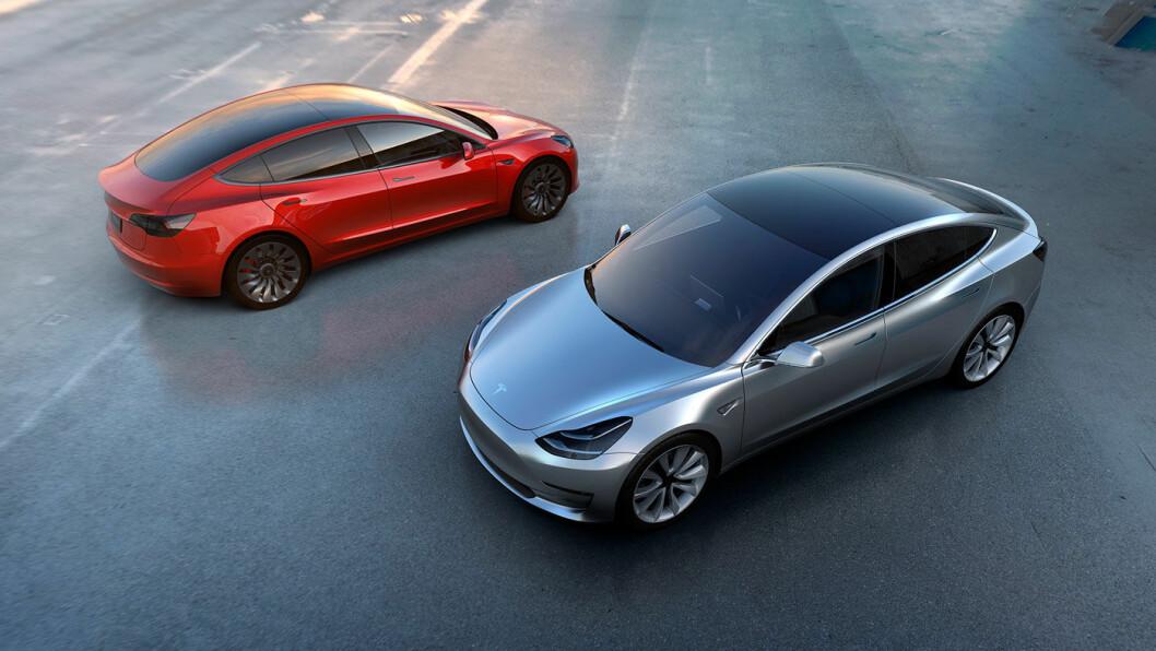 KOMMER STRAKS: 28. juli leveres de første Tesla Model 3. Foto: Tesla Motor