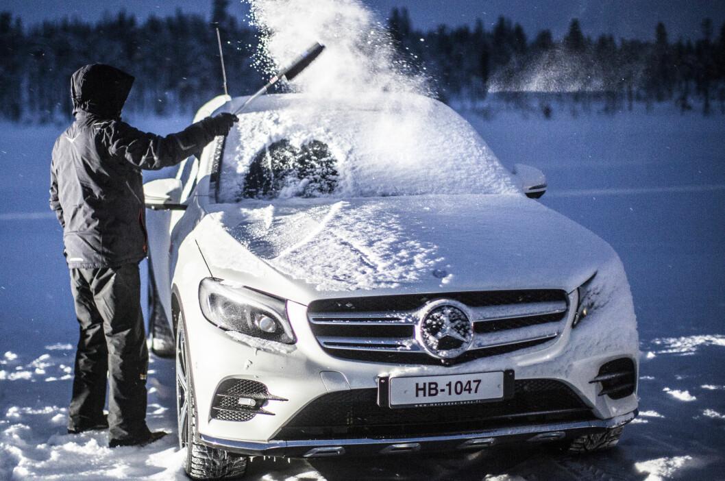 MOTORS TEST: I den store vintertesten har Motor flere ganger avslørt svært høye utslipp av NOx fra blant annet Mercedes. Foto: Heiki Nieminen