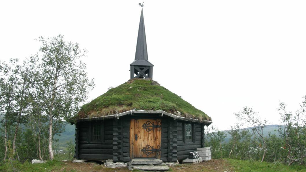 SJELDENHET: Kristi Krybbe Kirke på Namskogen.Foto: Privat