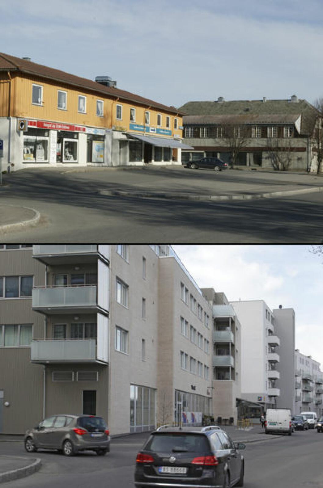 2006 og 2016: Brekkeveien i Ås sentrum, Akershus. Begge foto: Oscar Puschmann