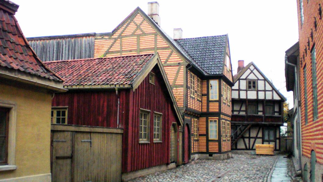 HISTORIEN: Gamlebyen er gjenskapt på Folkemuseet. Foto: Wikimedia.