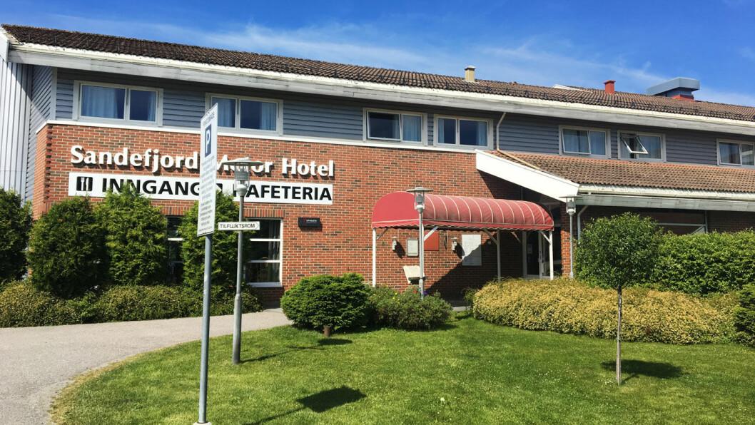 TORP FLYPLASS NESTE: Sandefjord Motor Hotel ligger praktisk til nær flyplassen og er et praktisk stopp for mange.