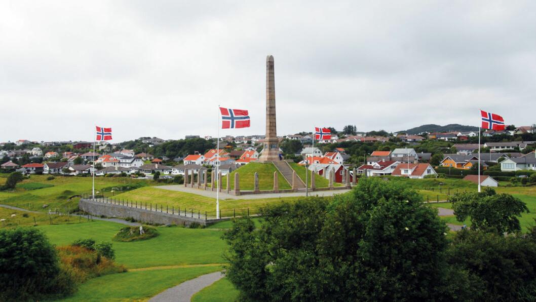 MONUMENT: Haraldsstøtta er Norges eneste riksmonument. Foto: Per Roger Lauritzen