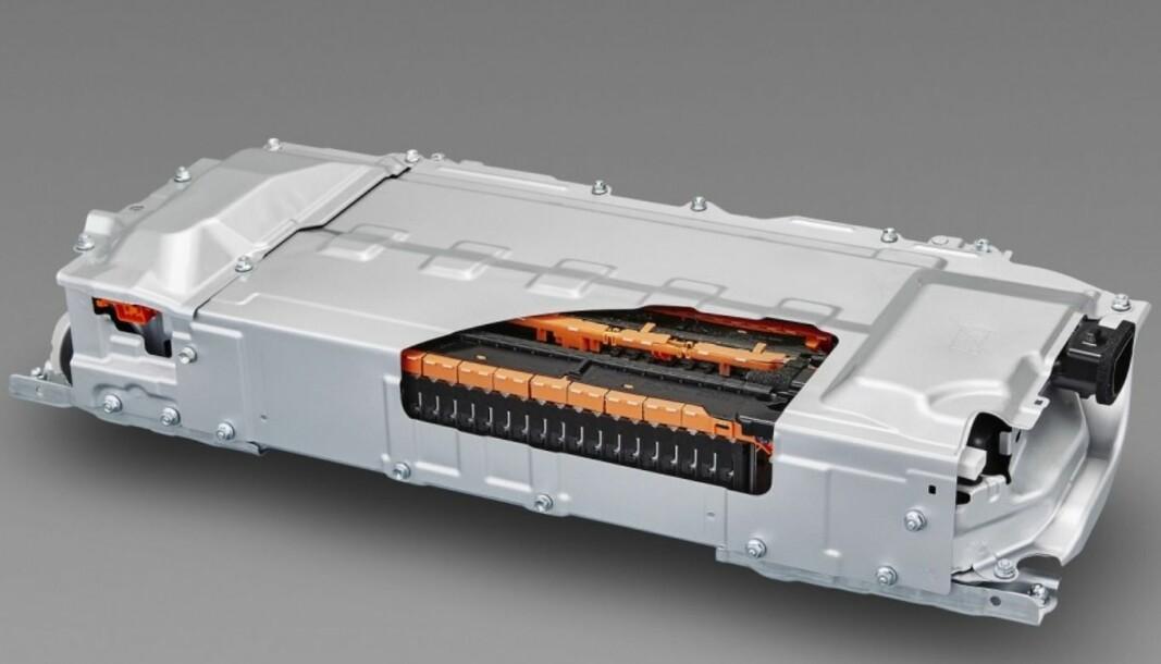 <b>NYTT BATTERI:</b> Den nye batteriet kan lades på to-tre minutter. Bildet viser et litiumion-batteri fra Toyota Prius.