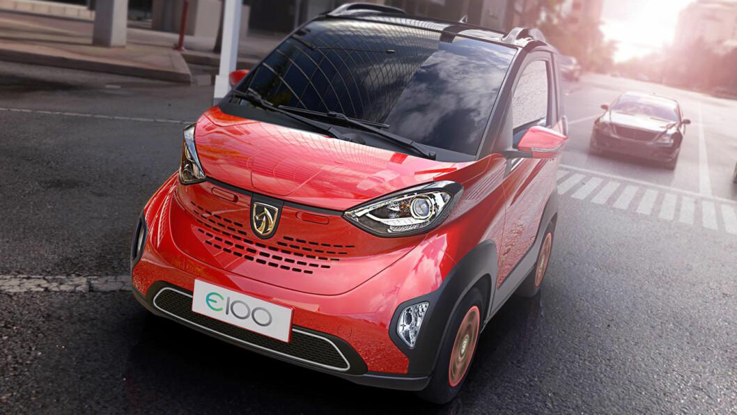 AMERIKANSK I KINA: GM tester det kinesiske massemarkedet med den lille elbilen Baojun E100.