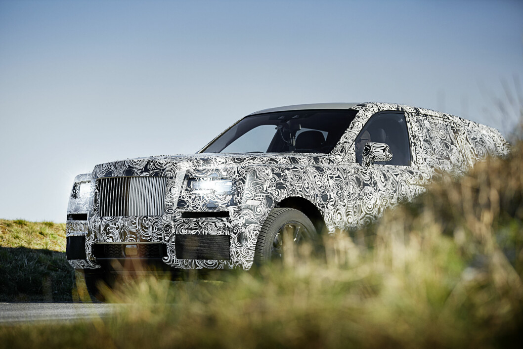 KLAR I 2019: Rolla Royce har kommet et godt stykke på vei i utviklingen av sin SUV. Pen?