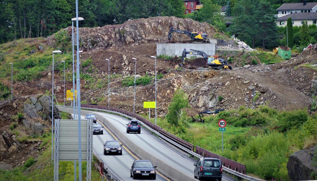 MER FIREFELT: Nye Veier skal bygge firefeltstrekningen nordover fra Tvedestrand, etter at strekningen fra Arendal til Tvedestrand (bildet) åpnet i 2019.