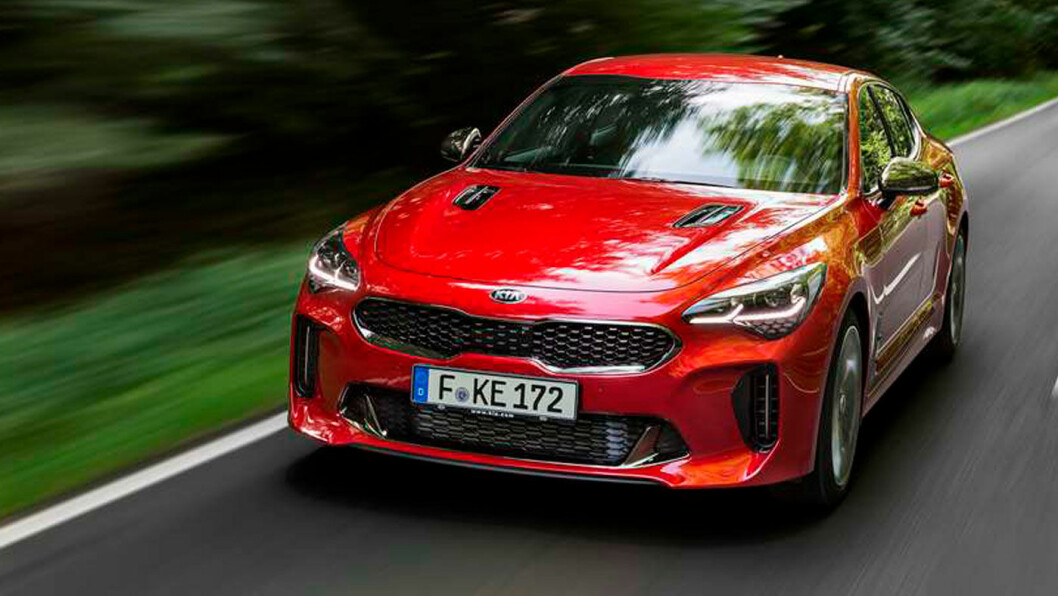 MINST-SELGER: Stinger er Kias barskeste, men også dyreste bil så langt. Målet er å selge 50 biler i året i Norge. Foto: Kia staff photographer
