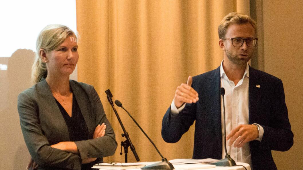 VIRKEMIDLER: Nikolai Astrup (H), til høyre, vil ha en forutsigbar virkemiddelbruk, men er usikker på effekten av økt vrakpant.