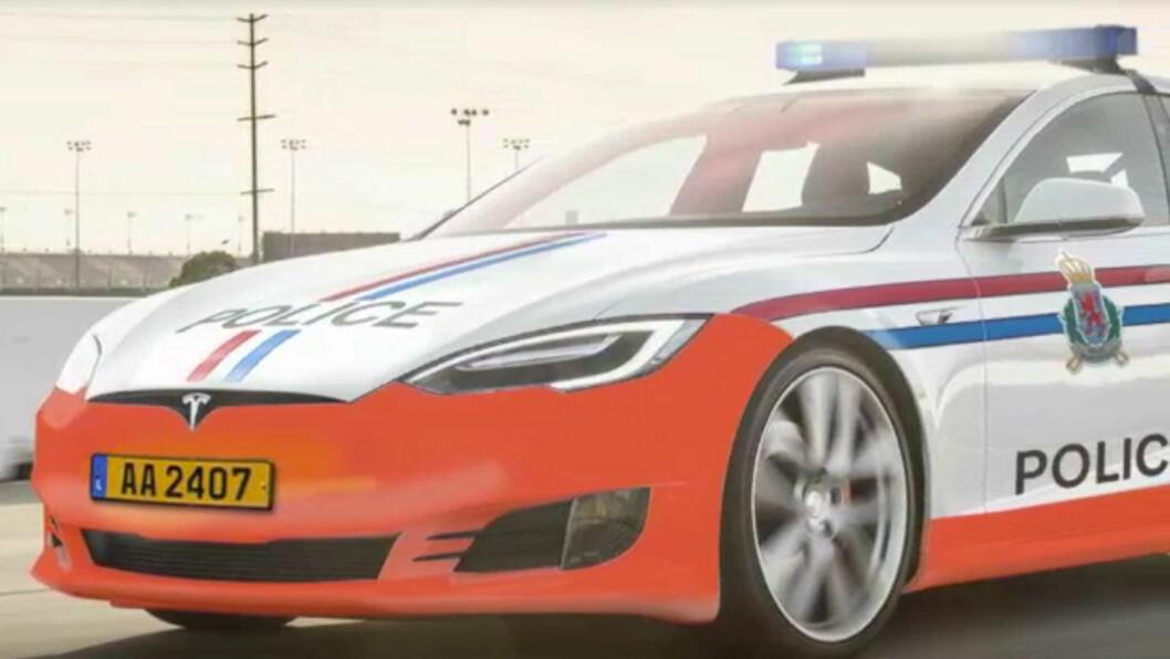 0-100 PÅ 2,7: Politiet i Luxembourg har kjøpt to Tesla Model S for bruk som tjenestebiler, men det er ikke kjent om de kjøper toppmodellen som bruker litt under tre sekunder på 0-100. Foto: RTL