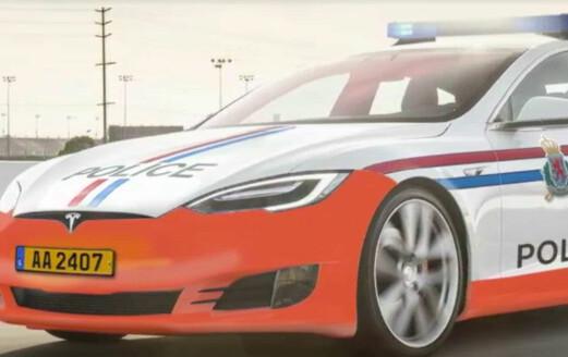Denne politibilen kjører du ikke fra