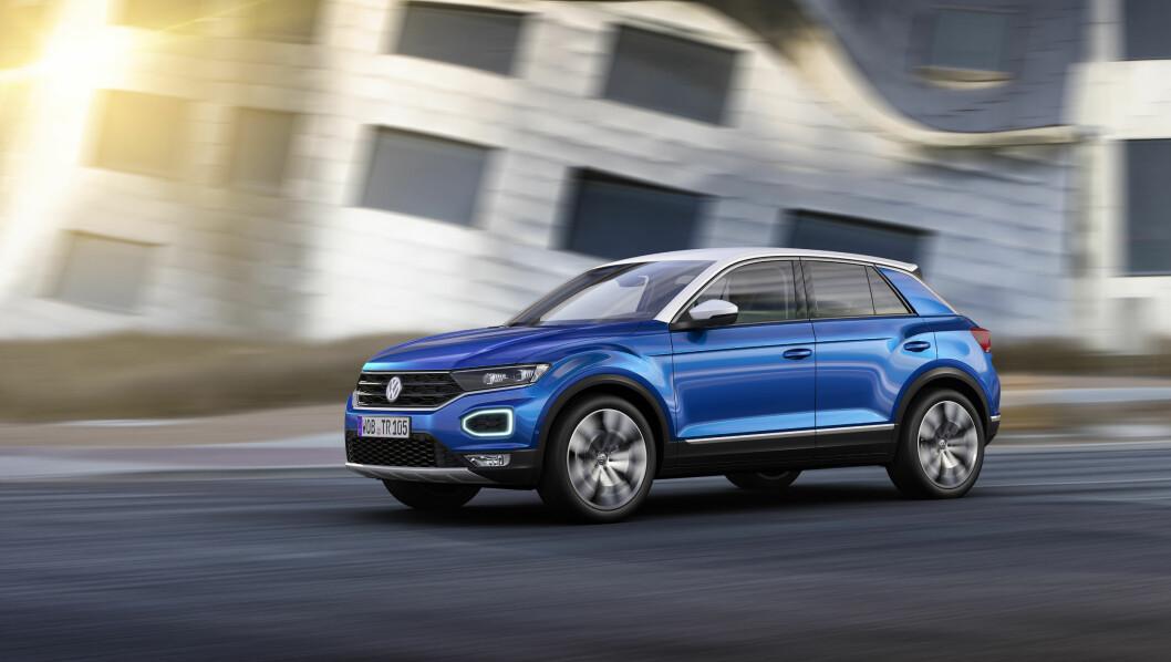 MEGET SPENNENDE: VWs nye T-Roc blir en av høstens mest spennende nye biler. Den passer smaken til norske bilkjøpere svært godt. Foto: VW