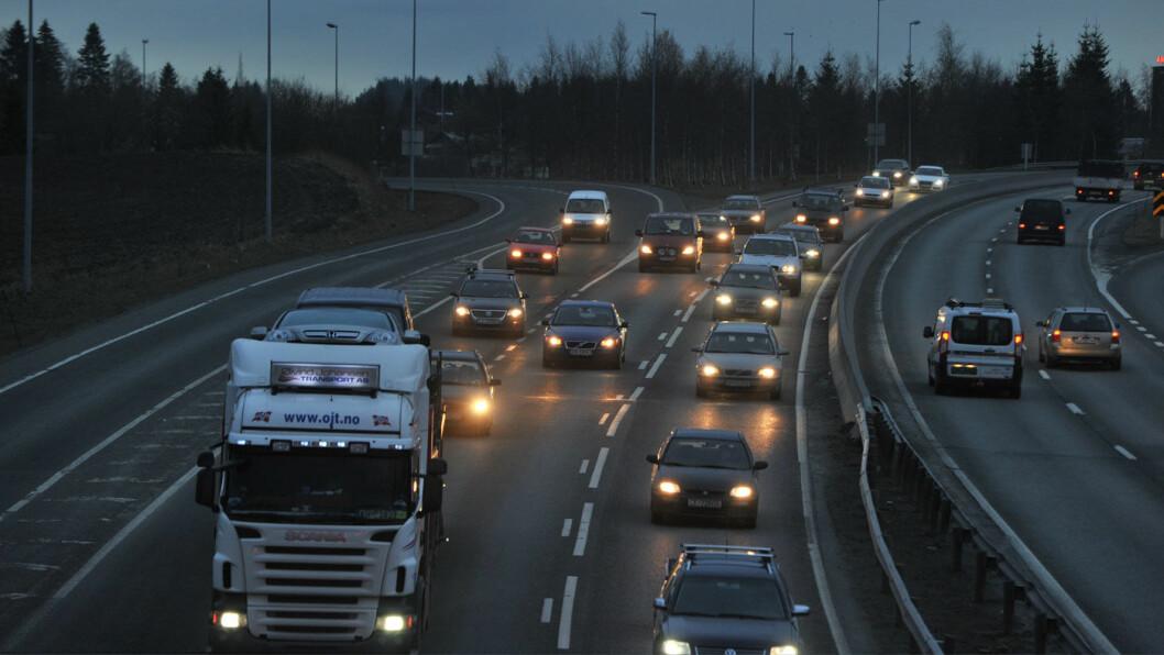 NYE VEIER: Byggetakten på nye motorveier har aldri vært høyere i Norge, som her ved Opstadbakken i Trondheim Foto: Knut Opeide