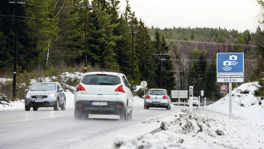 TRYGGERE: Automatisk hastighetsmåling har vært ett av virkemidlene for å redusere ulykkenivået på den såkalte «Dødsmila» i Akershus. Foto: Sveinung Uddu Ystad