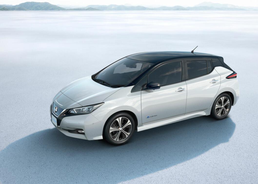 SPENNENDE: Elektriske Nissan Leaf får lenger rekkevidde og er en av de mest spennende nyhetene for det norske markedet i høst. Foto: Nissan