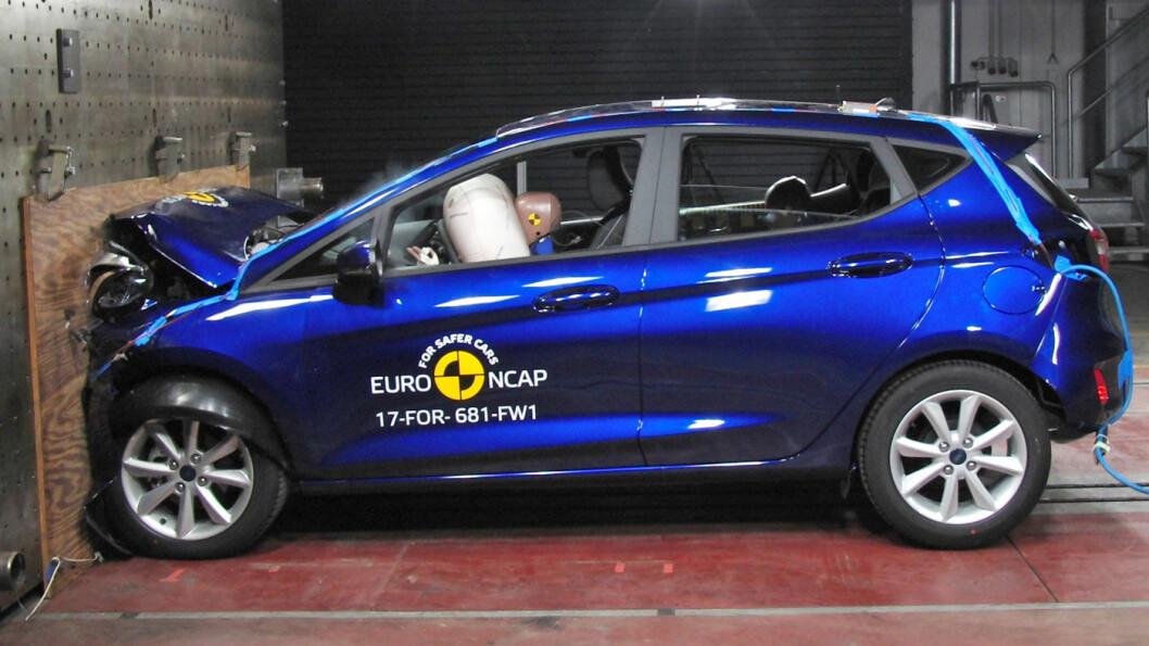 TOPP: Ford Fiesta er den andre småbilen etter Seat Ibiza som har fått toppscore hos Euro NCAP